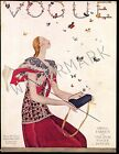 Vogue February 1924 Vintage Artwork Poster Fashion  Cover - 4 sizes available