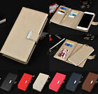 Leather Removable Flip Case Wallet Card Cover Skin For Apple iPhone 6S 7 7Plus