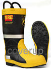 DUNLOP FIREFIGHTER INDUSTRIAL RUBBER FIRE WELLINGTON SAFETY WELLIES BLACK/YELLOW