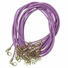 Hot leather cord with Lobster clasp 10 colors Diy necklace beacelet accessories