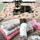 Small Large Puppy Warm Pet Mat Patterned Cat Dog Fleece Blanket Bed Cushion Cozy