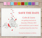 Personalised Vintage Save The Date Wedding cards butterfly birdcage handmade #1