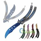 CSGO Blunt Practice Butterfly Knife Trainer Training Folding Knife Dull Tool【US】