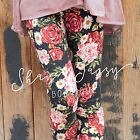 Charming Vintage Inspired Womens Leggings Rose & Daisy Floral Print