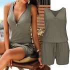 New Womens Summer Shorts Jumpsuits Beach Party Clubwear Romper Playsuit S~3XL