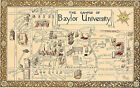 Historical Map Baylor University Campus Reprint Wall Poster Ready to Frame Print