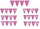 PINK SPARKLE Birthday Party Range FLAG BANNER BUNTING - 13FT AMSCAN - AGES