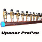 "2"" Copper Manifold 5/8"" Pex Uponor ProPEX (With & Without Ball Valve) 2-12 Loop"