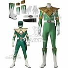 ZYURANGER Green Ranger Dragon Cosplay Costume Jumpsuit with Armor and Boots