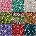 100pcs 4mm/6mm/8mm Round Pearl Glass DIY Loose Spacer Seed Beads Wholesale Lot