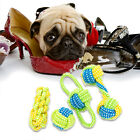 Pet Dog Cat Chew Toy w/Knot Tough Strong War Play Cotton Rope Teeth Cleaner Wire