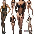 NEW LADIES FISHNET ZEBRA FLORAL LACE LONG SLEEVE STRAPPY LINGERIE BODYSTOCKING