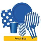 ROYAL BLUE Party Tableware Disposable Birthday Supplies Event Decorations
