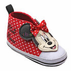 Newborn Baby Girl Red Polka Dot Minnie Mouse Princess Crib Shoes 3 6 9 12 Months