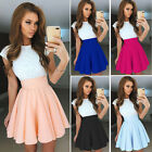 Women Lace Bodycon Short Sleeve Casual Evening Party Cocktail Short Mini Dress