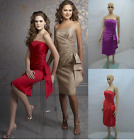 UK Stock Clearance Sales New Short Evening Party Gown Prom Wedding Dress Sz 6-18