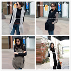 Luxury New Winter Women Warm Outwear Faux Fur Jacket Coat Vest + Belt