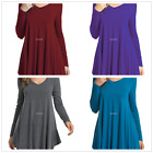 Women's  V-Neck Long-sleeve T-shirt Tops Blouse Basic T-Shirt Pleated New