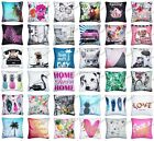 "18""X18"" Printed Polyester Cushion Covers Throw Back Pillow Cases Home Decor Gift"