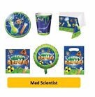 MAD SCIENTIST Happy Birthday Party Range - Tableware & Decorations {Creative}