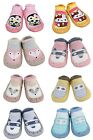 2 Pairs of Baby Boys Girls Indoor Slippers Anti-slip Socks Moccasins 9-18 Months