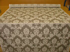 Silver Grey Madagascar Designer Curtain Brocade Damask Upholstery Cotton Fabric
