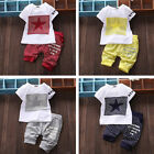 2pcs Toddler Kids Newborn Baby Boy Clothes T-shirt Top Pants Trousers Outfit Set