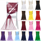 "1/5/10 PCS 21""x70"" Chiffon Chair Sash Ribbon Bow Cover Wedding Party Decoration"