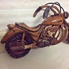 Harlley Davidson Model Wood King Road Motorcycle Biker Display Old Handcrafted