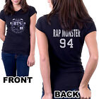 KPOP BTS T-shirt, 7 Members Bangtan Boys Band Name on Black Tee
