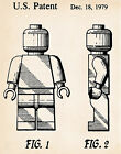 LEGO Toy Patent Prints Minifigures Mini Figures Movie Poster Drawings Kids Decor