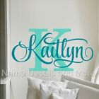 Girls Personalized Name Vinyl Wall Sticker Decal Nursery Bedroom Decor Kids