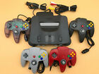 N64 Nintendo 64 Console + UP TO 4 BRAND NEW CONTROLLERS + Cords + CLEANED!