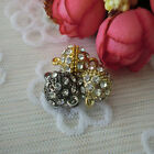 10/20pcs 16mm Round Crystal Rhinestone Strong Magnetic Clasps Jewelry Findings