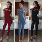ladies jumpsuits - Women Ladies Clubwear Hollow Playsuit Bodycon Party Jumpsuit&Romper Trousers US
