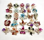 12Px wholesale lot brooches flower floriated brooch pins mixed colors designs
