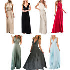 Bridesmaid Formal Evening Party Prom Convertible Multiway Wrap Long Maxi Dress