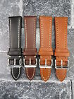 21mm VICTORINOX SWISS ARMY Brown COW LEATHER STRAP CAVALRY Thick Watch BAND BK