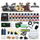 Beginner Top Tattoo Kit 4 Machine Gun Power Supply USA Color Ink Set 50 Needles