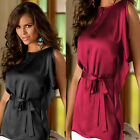 Fashion Women Lady Sleeveless Baggy Tops Party Satin Top Casual Blouse T-Shirt
