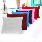 Inflatable Double Side Pillow Blow up Fabric  Air Pillow Cushion Camping Travel