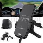 Qi Wireless Car Fast Charger Mount Pad Transmitter Dock Air Vent Phone Holder