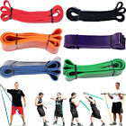 Pull Up Exercise Stretch Train Rubber Resistance Band Loop Yoga Fitness Sporting