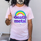 Death Metal Pink Rainbow Rock Music Punk Funny Adult Mens T Tee Shirt GT2999