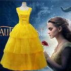 Beauty and The Beast Princess Adult Fancy Dress Costume Cosplay Party Ball Gown