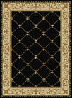 Black Lines Diamonds Persian Area Rug Bordered Rhombus Swirls Oriental Carpet