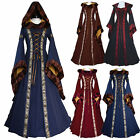 Women's Vintage Victorian Renaissance Long Medieval Cotton Gothic Cosplay Dress
