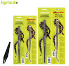 KOMODO REPTILE METAL PLASTIC FEEDING TONGS STRAIGHT ANGLED FOOD HANDLING 25/30CM