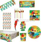 8, 16, 24 GUESTS HAWAIIAN TROPICAL ISLAND LUAU SUMMER TABLEWARE DECORATIONS KIT