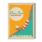 Dive into Sunshine Vintage Advertisement on Gallery Wrapped Canvas